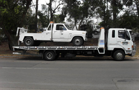 tow truck towed