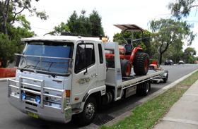 Tractors towed